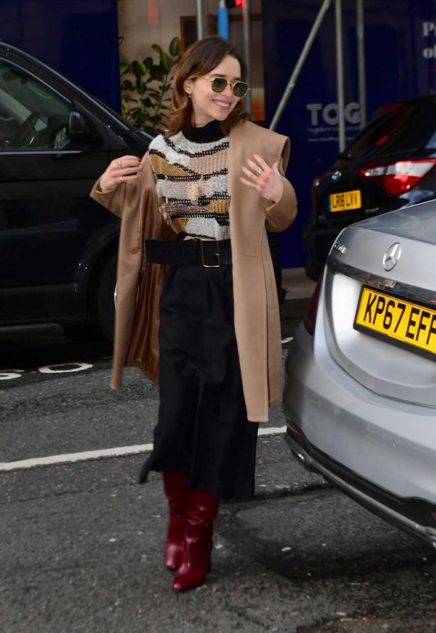 Emilia Clarke - Arrives at Radio 2 in London