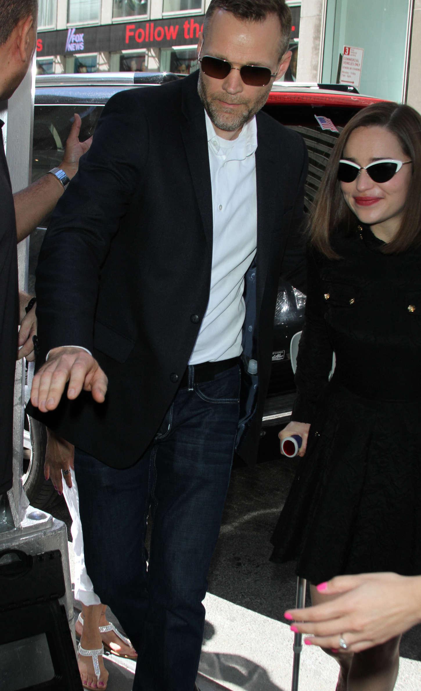 Emilia Clarke 2015 : Emilia Clarke: Arrives at SiriusXM Studios -02