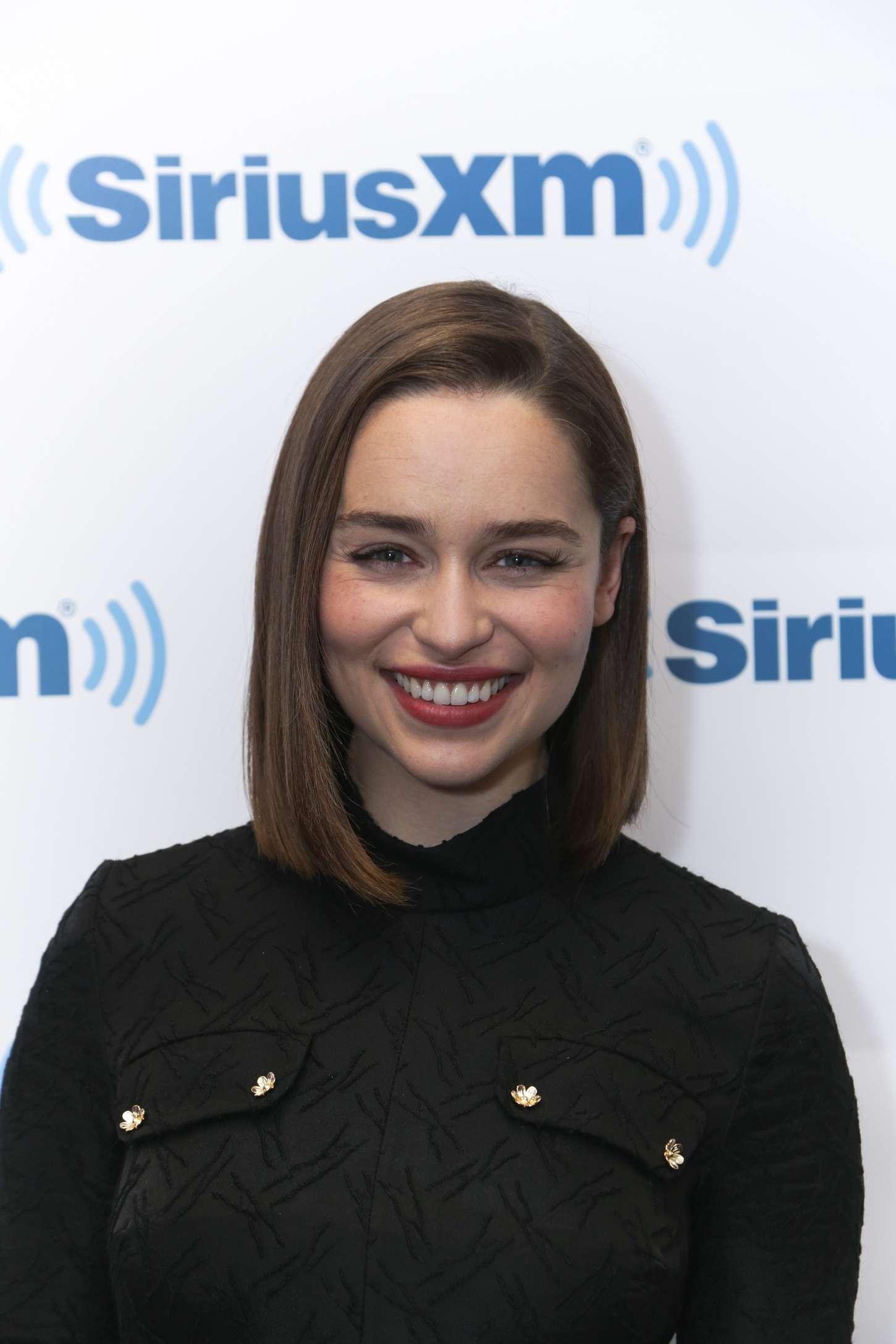 Emilia Clarke 2015 : Emilia Clarke: Arrives at SiriusXM Studios -05
