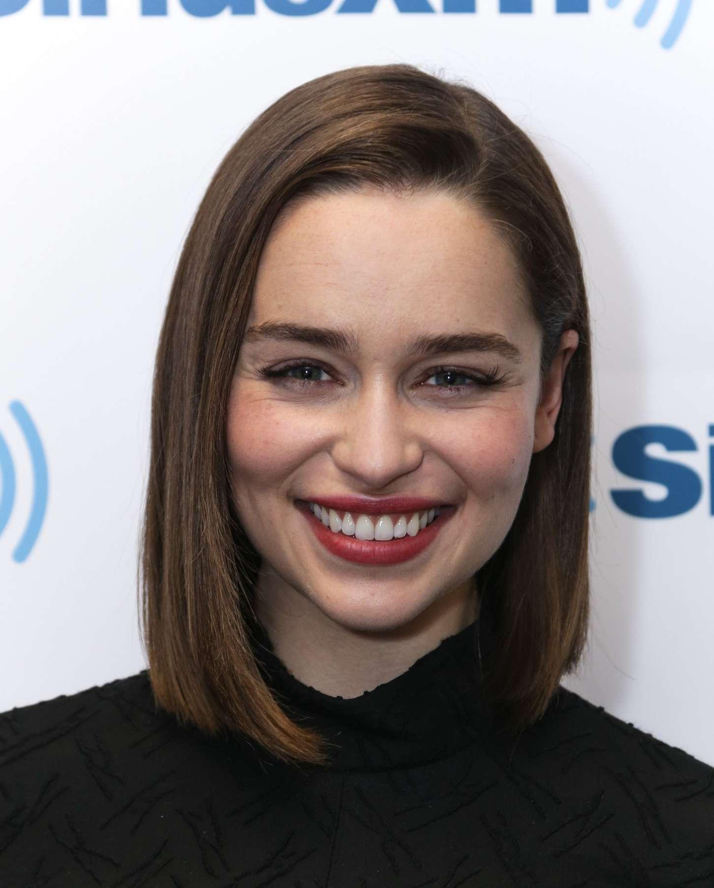 Emilia Clarke 2015 : Emilia Clarke: Arrives at SiriusXM Studios -06