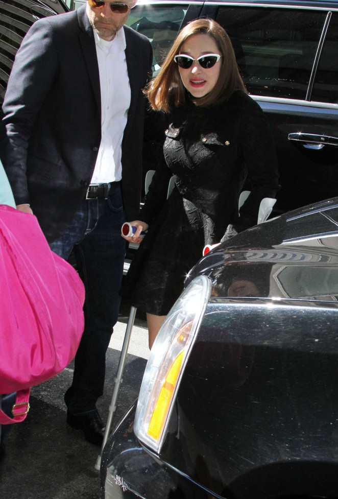 Emilia Clarke: Arrives at SiriusXM Studios -08