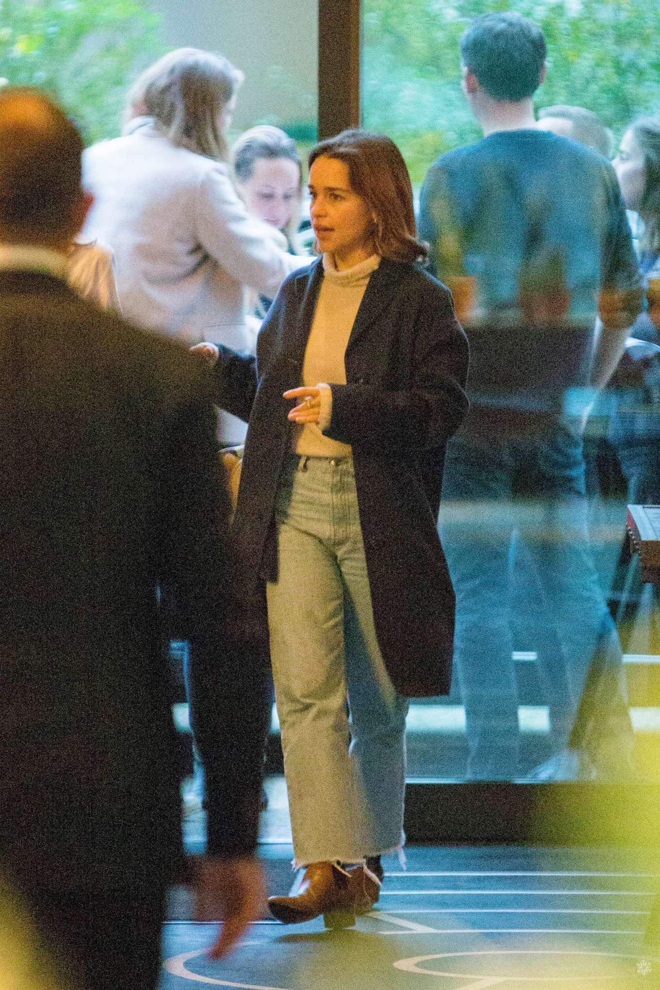 Emilia Clarke - Arrives at Soho House Berlin in Berlin
