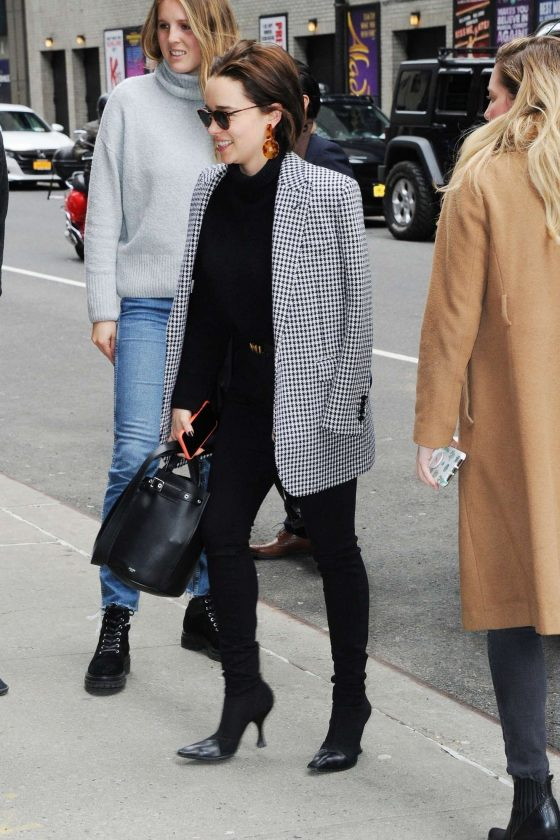 Emilia Clarke: Arrives at The Late Show with Stephen Colbert -05