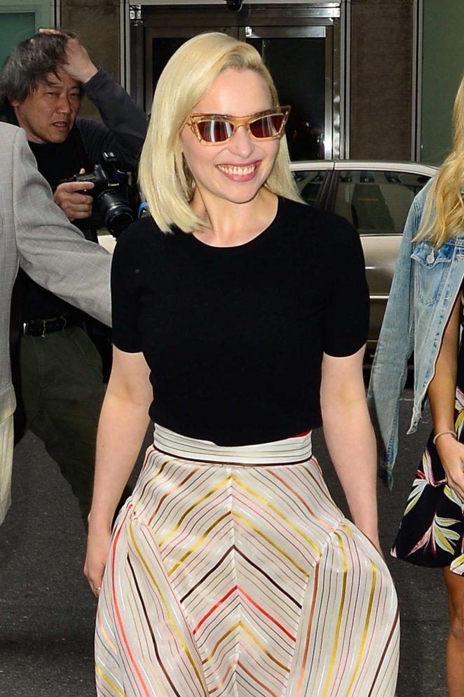 Emilia Clarke - Arriving at Sirius Radio in New York