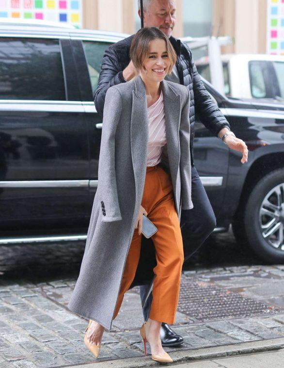 Emilia Clarke - Arriving at SiriusXM Studios in New York