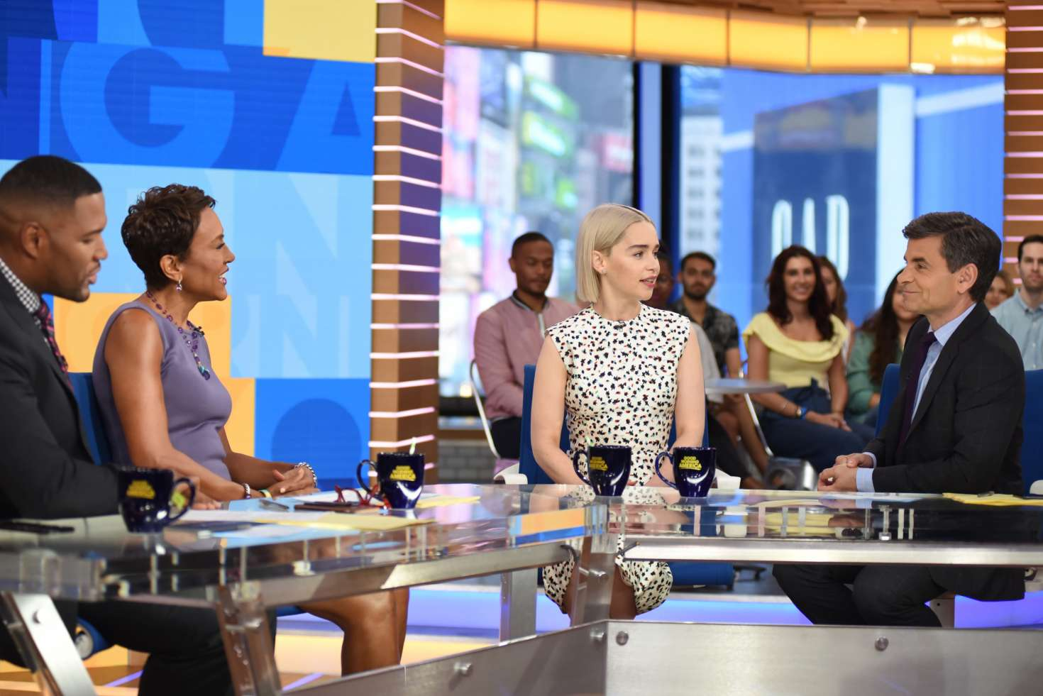 Emilia Clarke 2015 : Emilia Clarke at Good Morning America -01