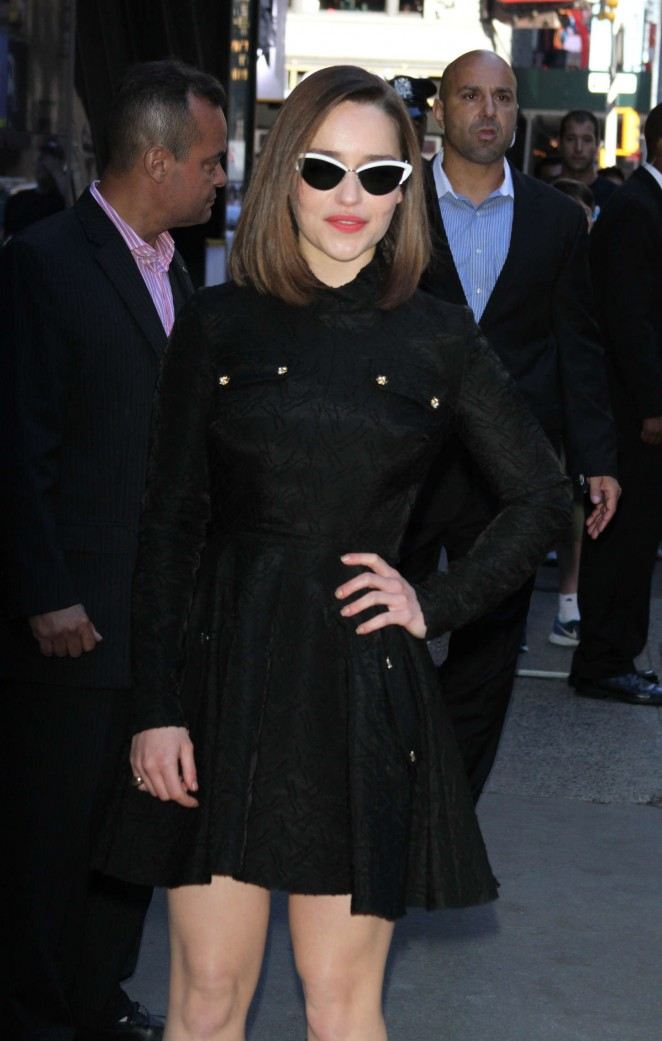 Emilia Clarke at Good Morning America in NYC