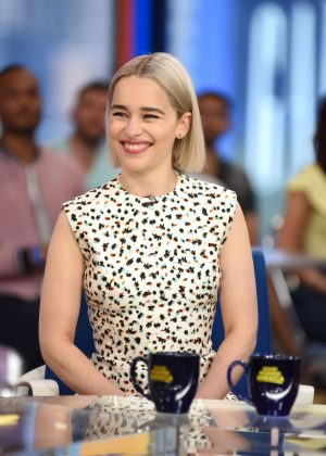 Emilia Clarke at 'Good Morning America' in New York City