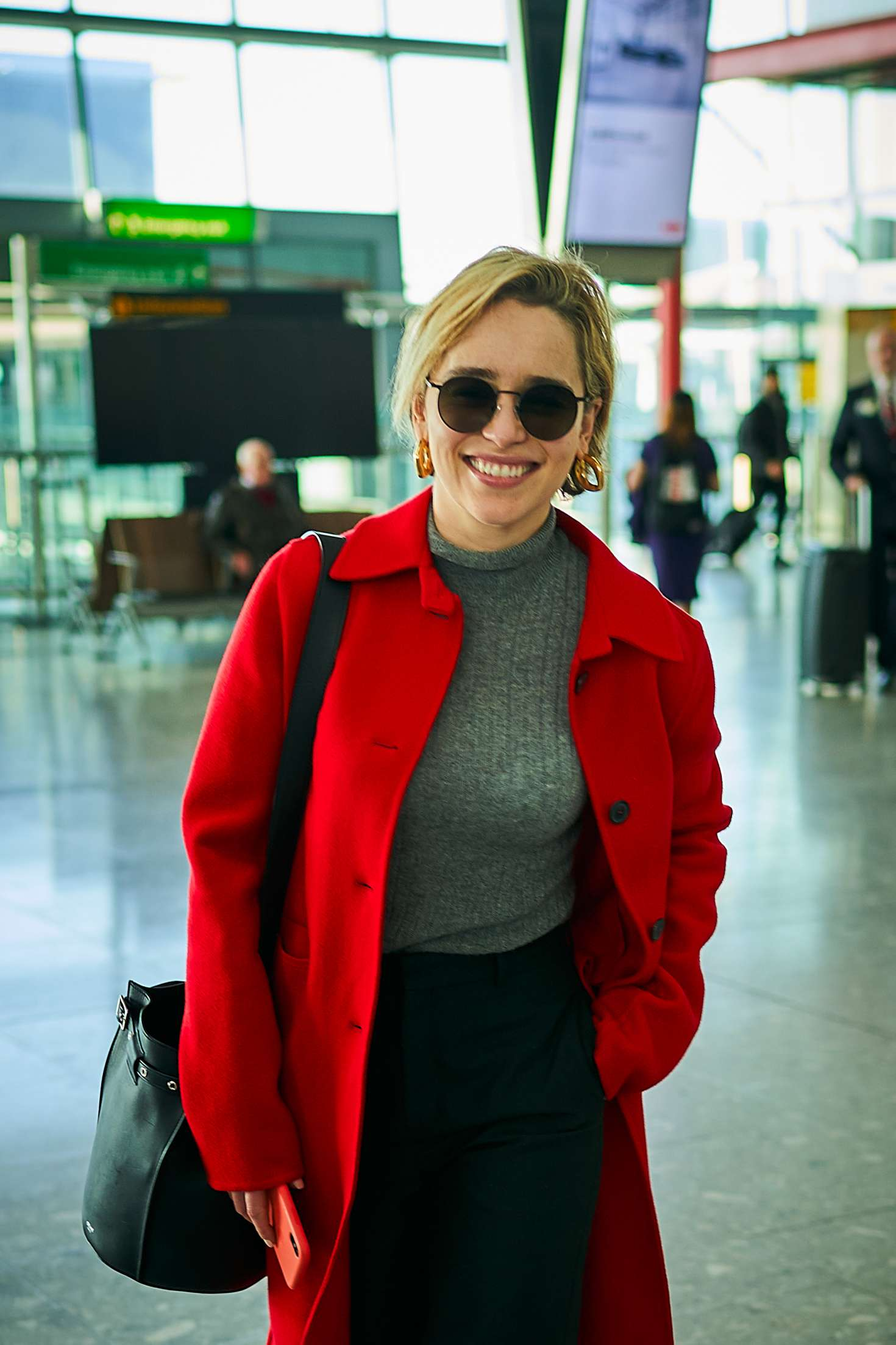 Emilia Clarke 2015 : Emilia Clarke at Heathrow Airport -01