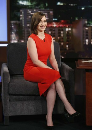 Emilia Clarke at 'Jimmy Kimmel Live!' in Hollywood