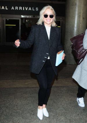 Emilia Clarke at LAX International Airport in Los Angeles