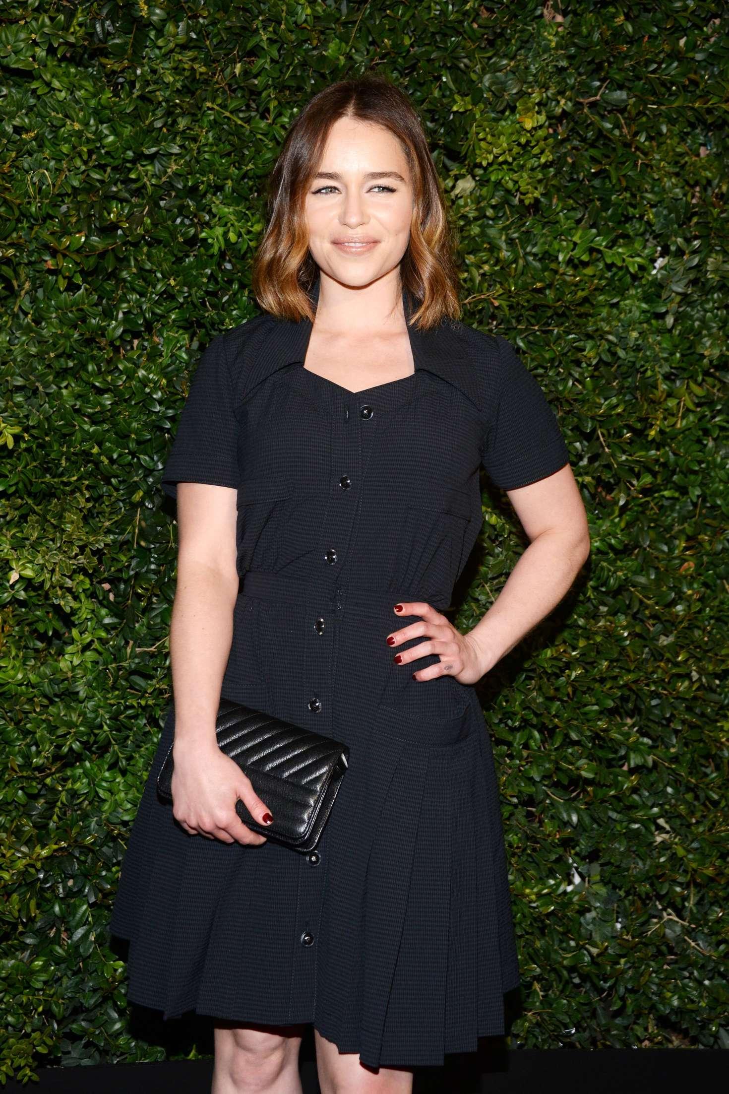Emilia Clarke - Charles Finch and Chanel Pre-Oscar Dinner 2016 in LA
