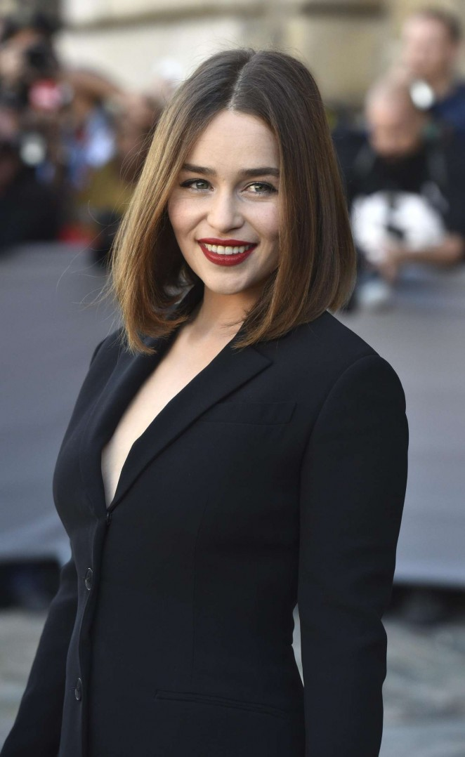 Emilia Clarke - Christian Dior's SS 2016 Paris Fashion Week