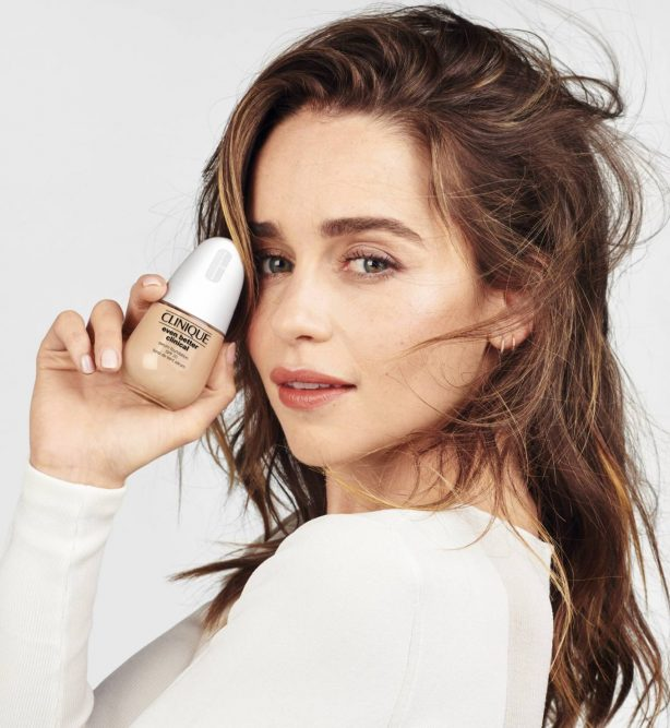 Emilia Clarke - Clinique Even Better Clinical Serum Foundation (2021)
