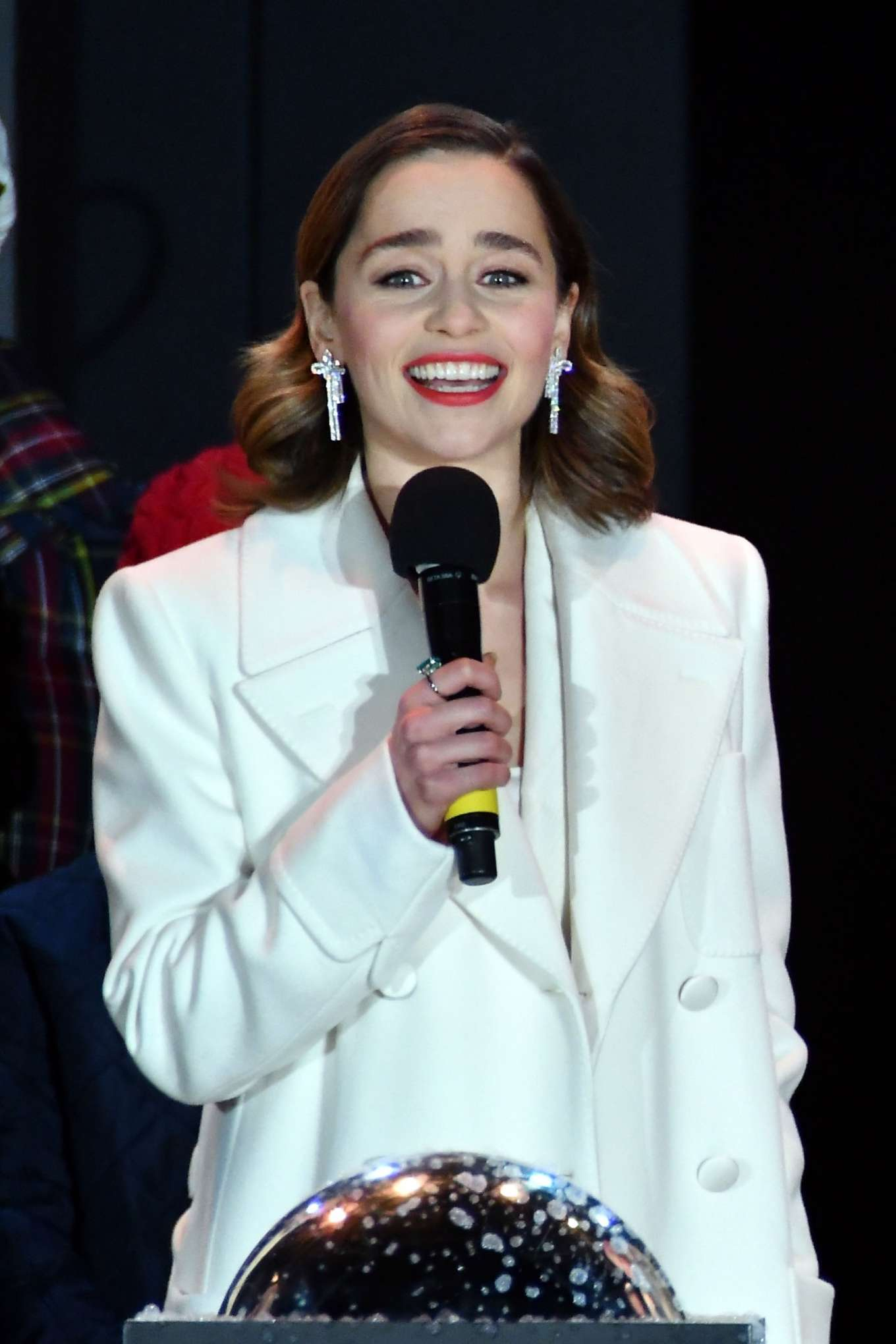 Emilia Clarke - Covent Garden Christmas Lights Switch on and Sing Along in London