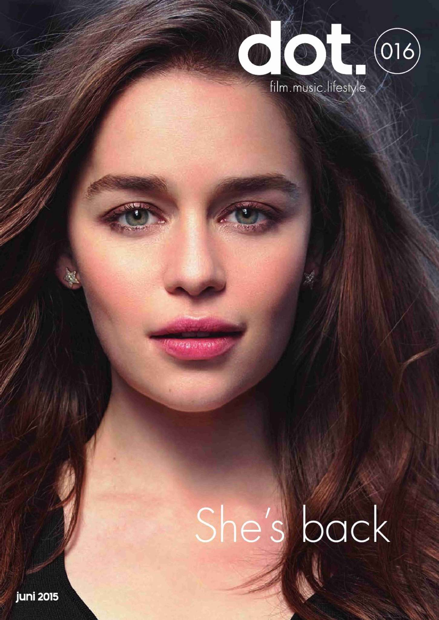 Emilia Clarke - Dot Magazine Cover (June 2015)