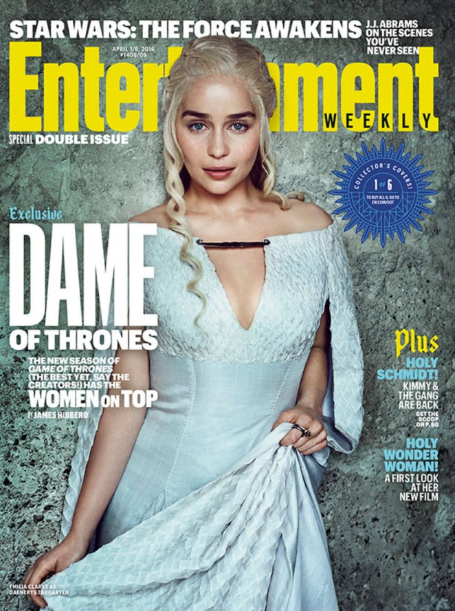 Emilia Clarke - Entertainment Weekly Cover (April 2016)
