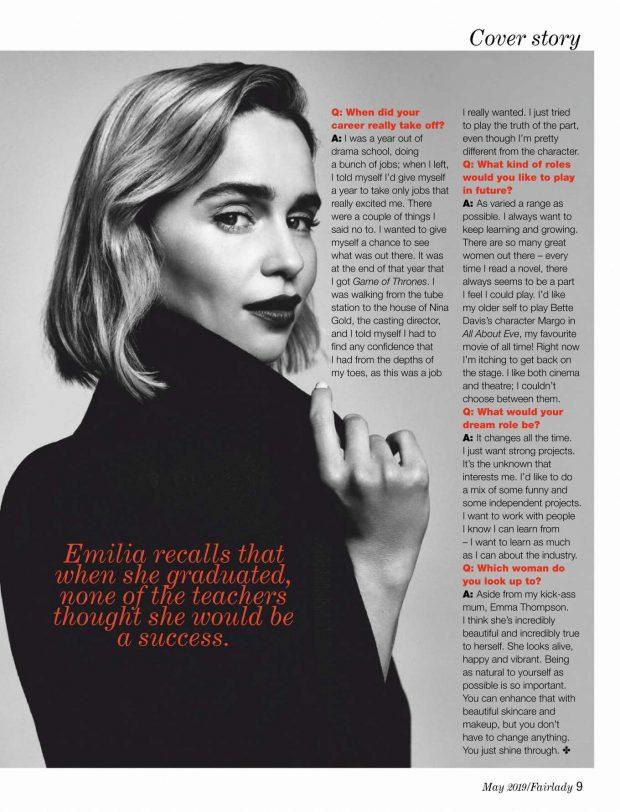 Emilia Clarke - Fairlady Magazine (May 2019)