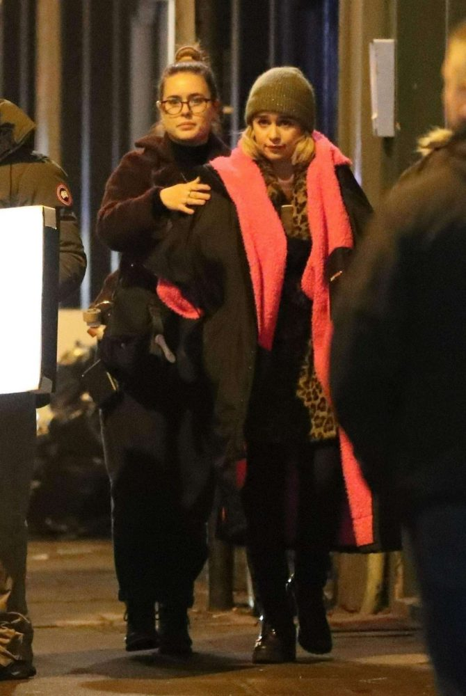 Emilia Clarke: Filming Last Christmas -02