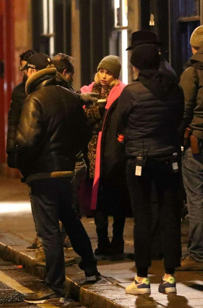 Emilia Clarke: Filming Last Christmas -03