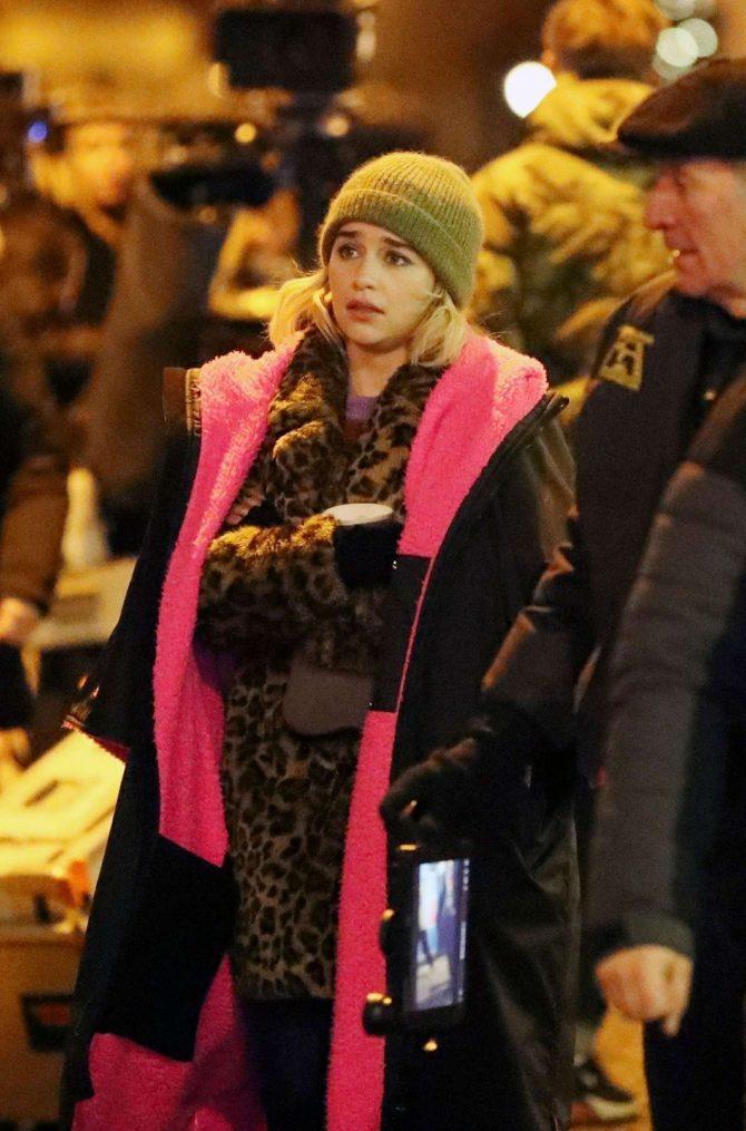 Emilia Clarke: Filming Last Christmas -04