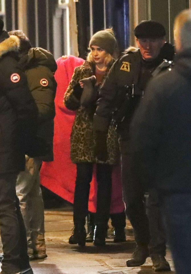 Emilia Clarke: Filming Last Christmas -07