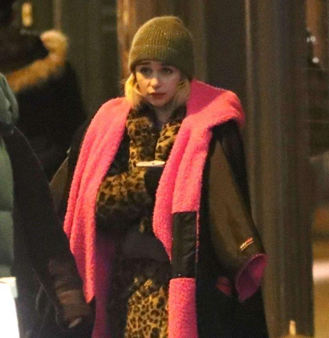 Emilia Clarke: Filming Last Christmas -10
