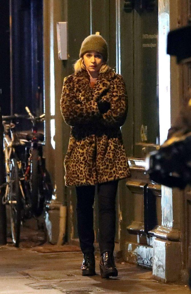 Emilia Clarke: Filming Last Christmas -11