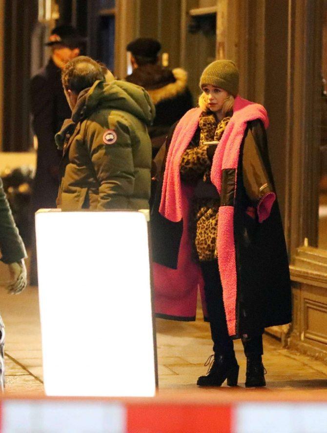 Emilia Clarke: Filming Last Christmas -13