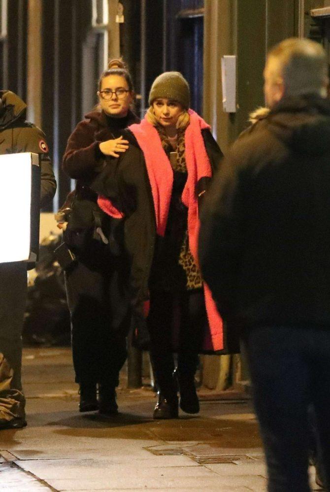 Emilia Clarke: Filming Last Christmas -14