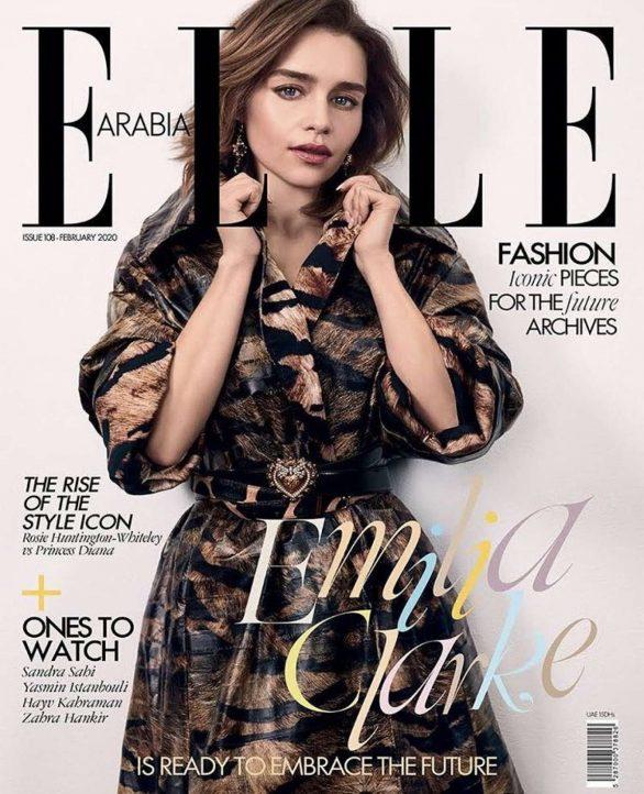Emilia Clarke for ELLE Arabia Cover (February 2020)