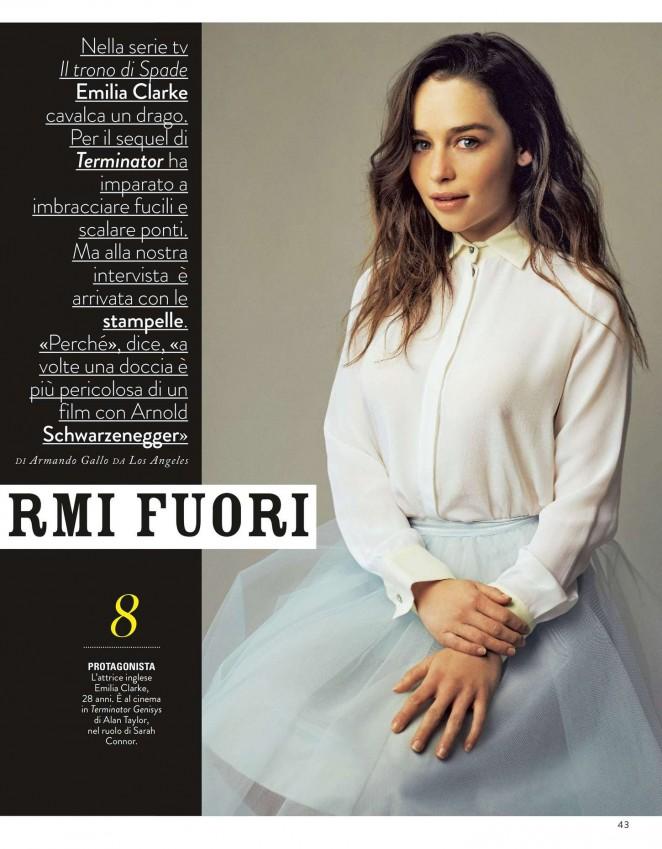 Emilia Clarke - Grazia Italy Magazine (July 2015)