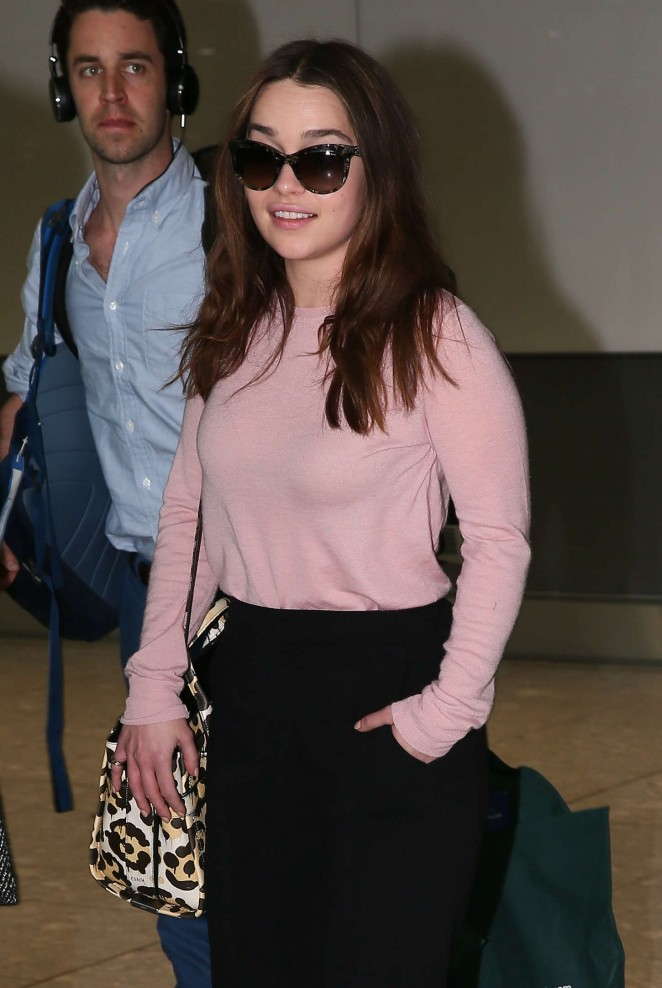 Emilia Clarke - Heathrow Airport in London