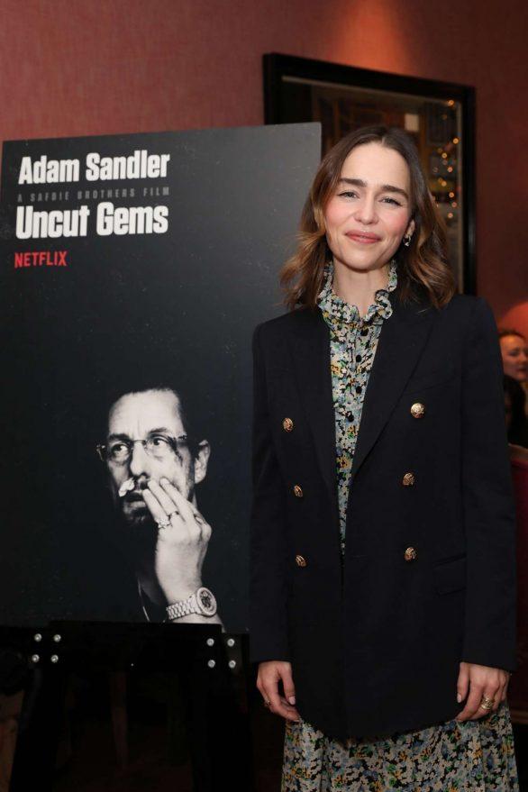 Emilia Clarke - Hosts a Netflix Tastemaker Sreening for 'Uncut Gems' in London