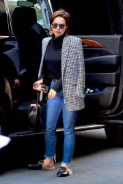 Emilia Clarke in Jeans - Out in New York
