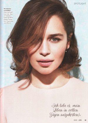 Emilia Clarke - Jolie Magazine (August 2016)