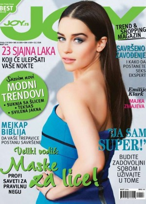 Emilia Clarke - Joy Serbia Magazine Cover (March 2016)