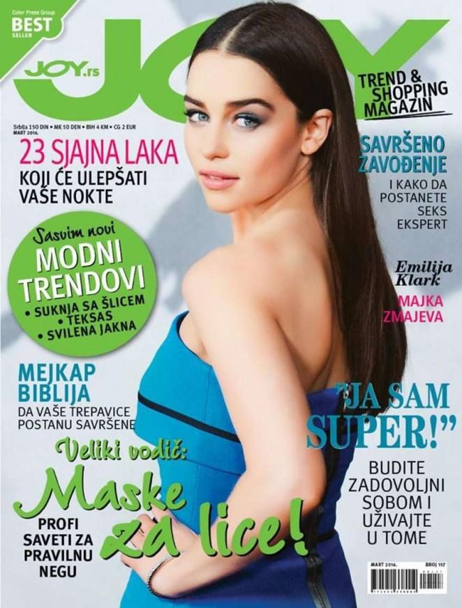 Emilia Clarke - Joy Serbia Magazine Cover (March 2016)