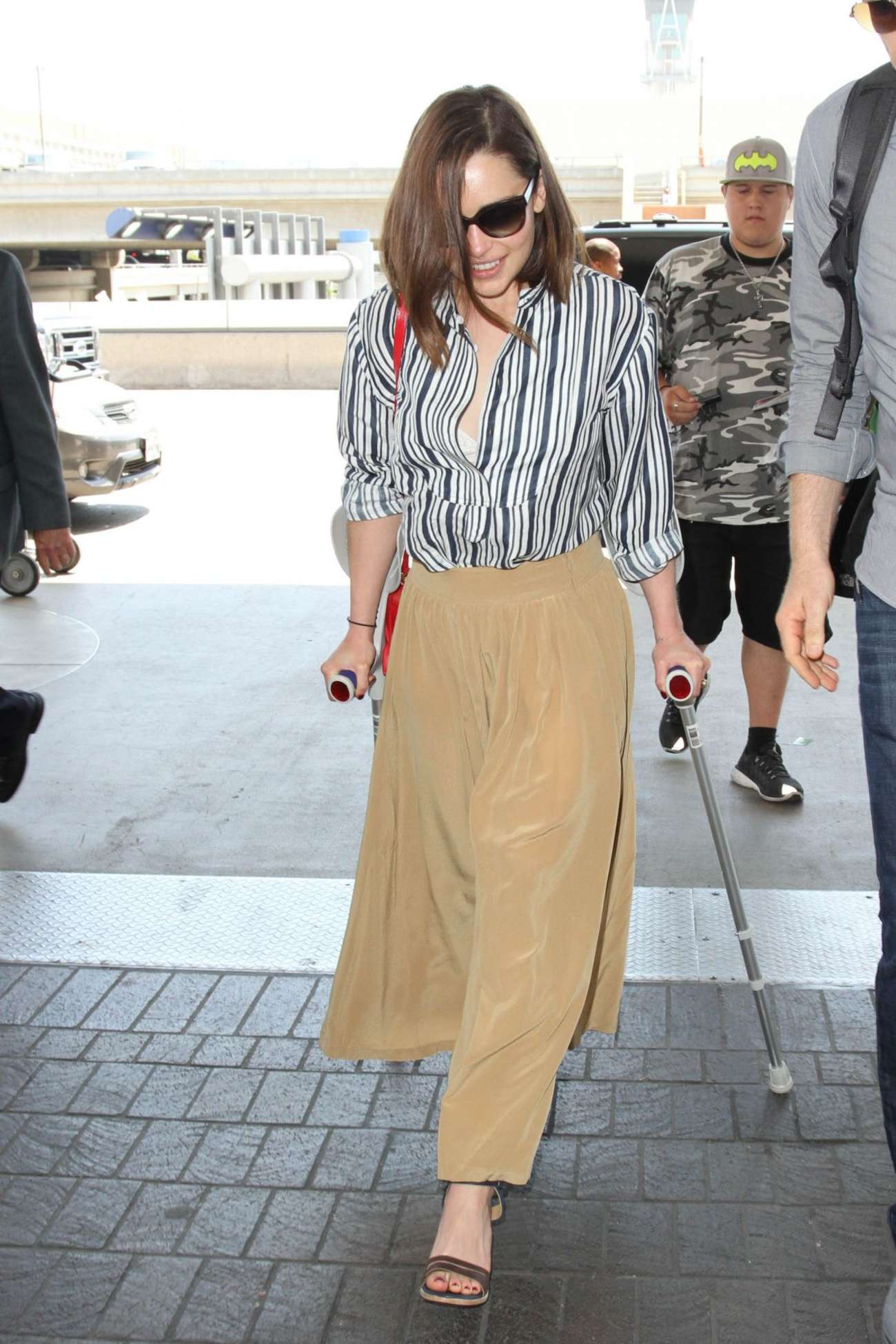 Emilia Clarke - LAX Airport in Los Angeles