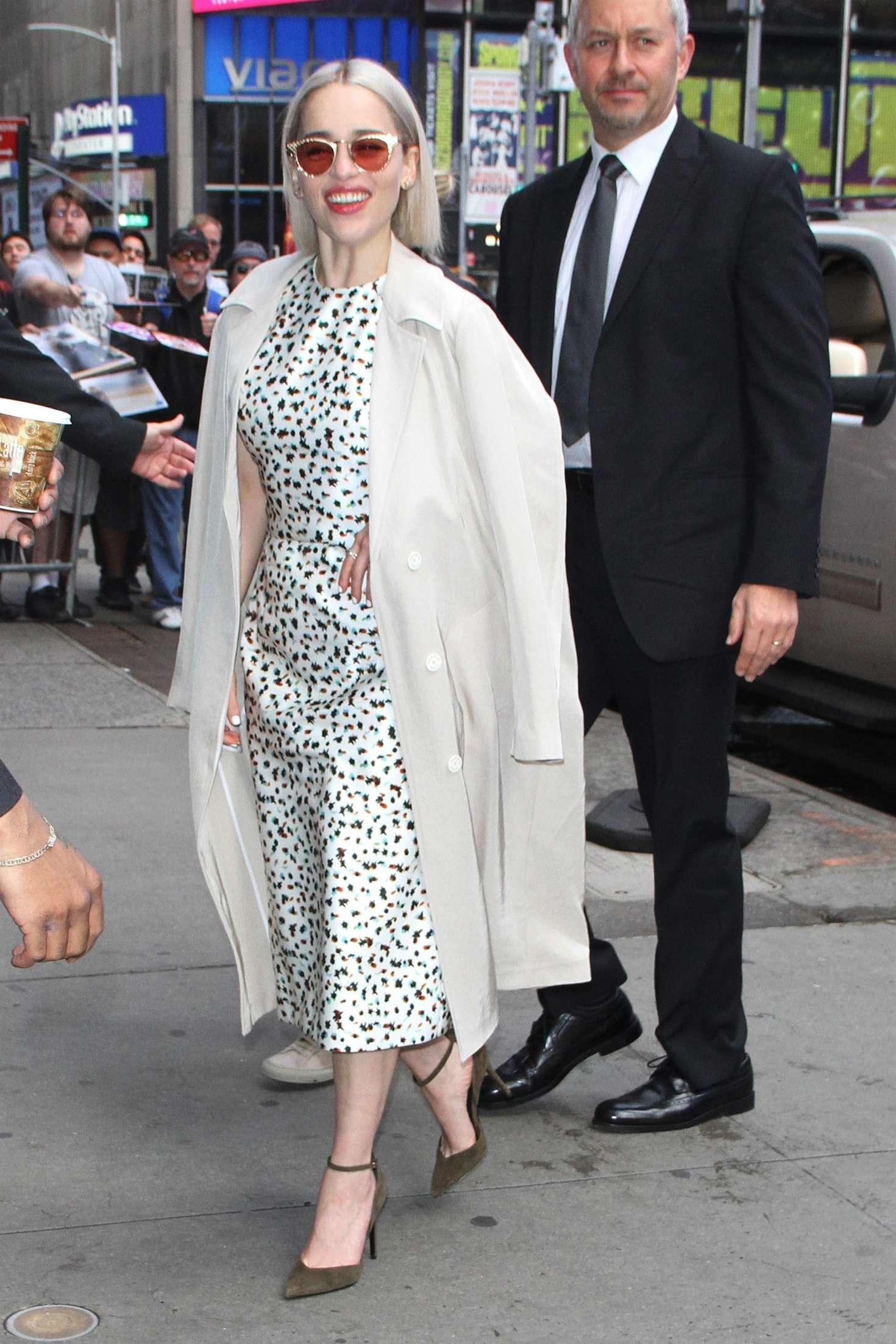 Emilia Clarke 2018 : Emilia Clarke: Leaves Good Morning America studios -01