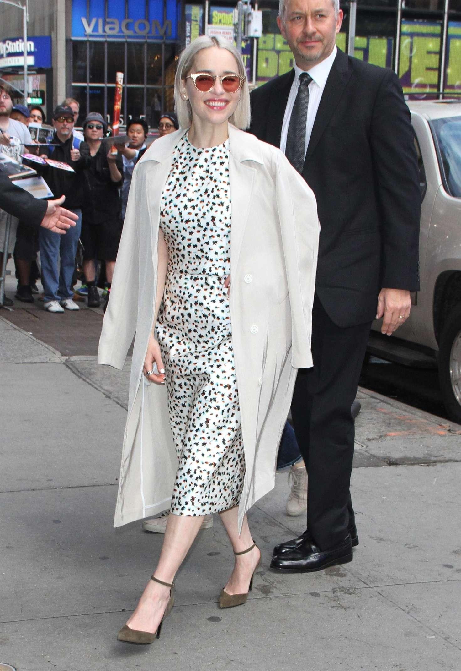 Emilia Clarke 2018 : Emilia Clarke: Leaves Good Morning America studios -03