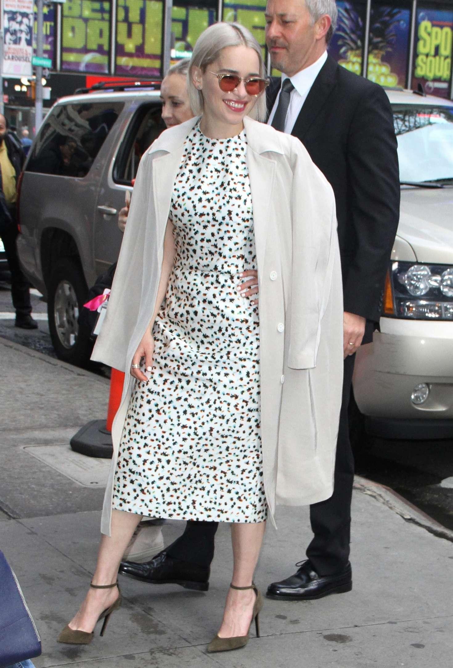 Emilia Clarke 2018 : Emilia Clarke: Leaves Good Morning America studios -05