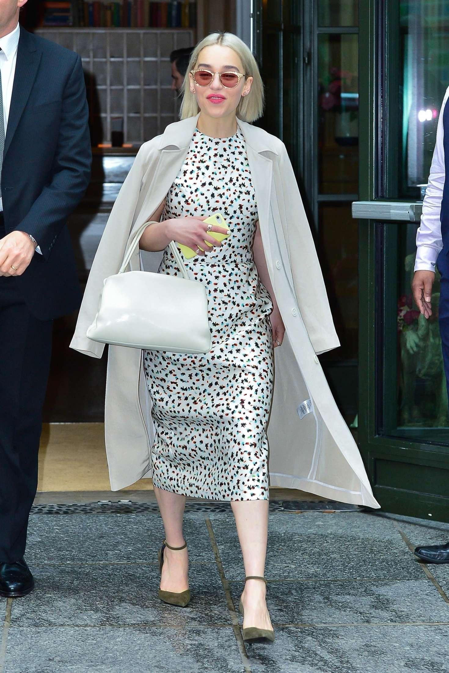 Emilia Clarke 2018 : Emilia Clarke: Leaves Good Morning America studios -07