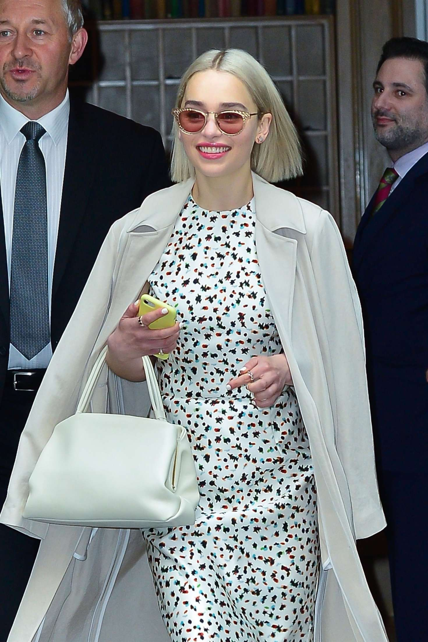 Emilia Clarke 2018 : Emilia Clarke: Leaves Good Morning America studios -11