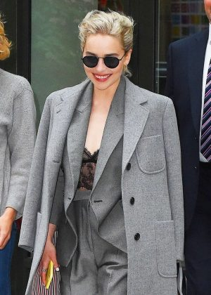 Emilia Clarke - Leaves her hotel in NYC