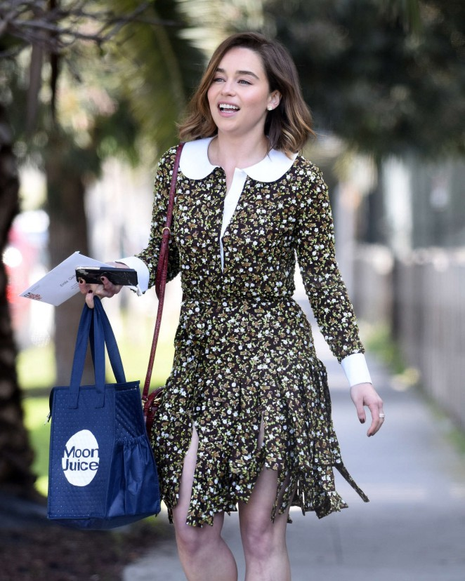 Emilia Clarke - Leaving her home in Los Angeles