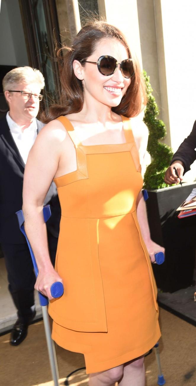Emilia Clarke - Leaving her hotel in London