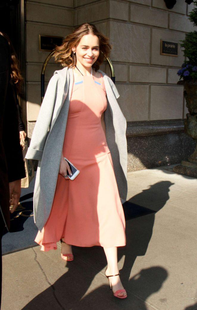 Emilia Clarke - Leaving her Hotel in New York City