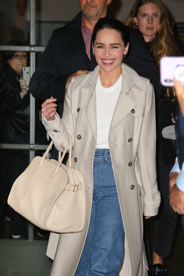 Emilia Clarke - Leaving The Whitby Hotel in NYC