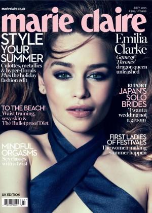 Emilia Clarke - Marie Claire UK Magazine Cover (July 2015)